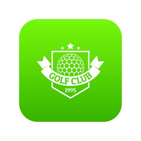 Golf icon green vector