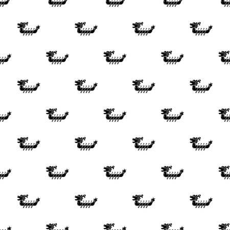 Dragon boat icon, simple style