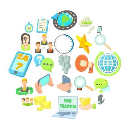 Buzz icons set. Cartoon set of 25 buzz vector icons for web isolated on white background Illustration