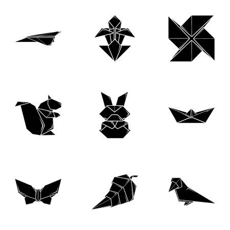 Piece of paper icons set. Simple set of 9 piece of paper vector icons for web isolated on white background
