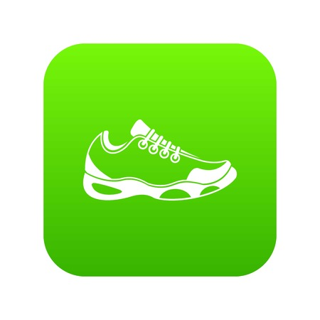 Sneakers for tennis icon digital green for any design isolated on white vector illustration