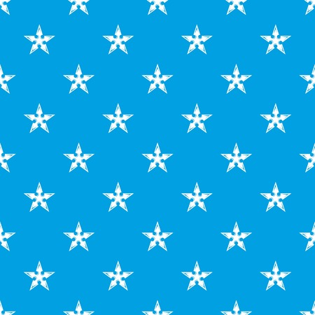 Figure star pattern vector seamless blue repeat for any use
