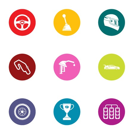 Road commerce icons set. Flat set of 9 road commerce vector icons for web isolated on white background