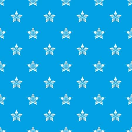 Ornamental star pattern vector seamless blue repeat for any use Vettoriali