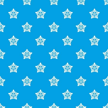Geometric star pattern vector seamless blue repeat for any use
