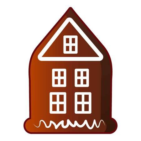 House gingerbread icon, cartoon style Stock Photo