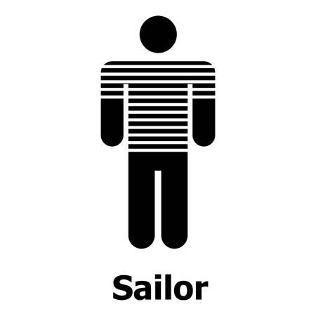Sailor icon, simple style Reklamní fotografie