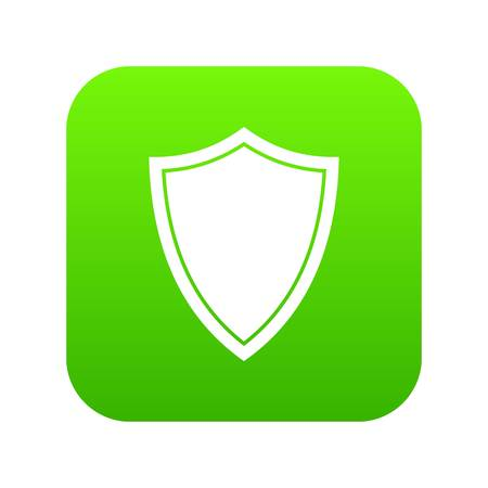 Shield for war icon digital green for any design isolated on white vector illustration