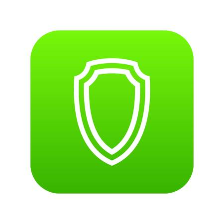 Army shield icon digital green for any design isolated on white vector illustration