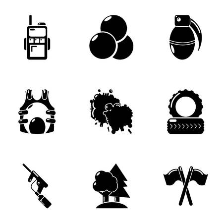 Military preparation icons set. Simple set of 9 military preparation vector icons for web isolated on white background