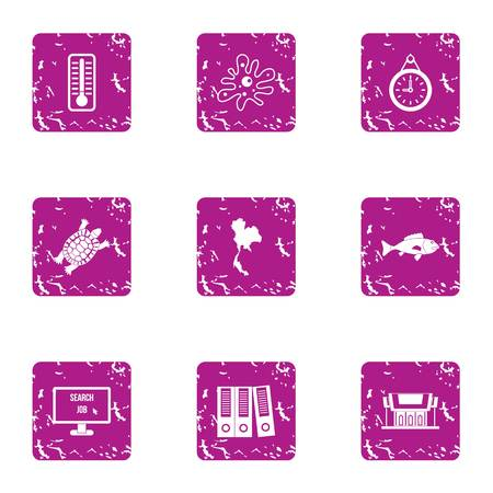 Evidence icons set. Grunge set of 9 evidence vector icons for web isolated on white background  イラスト・ベクター素材