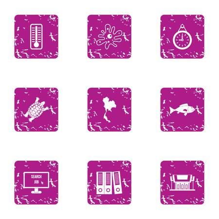 Evidence icons set. Grunge set of 9 evidence vector icons for web isolated on white background Illustration