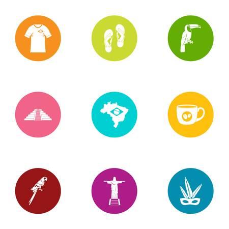 Spirit icons set. Flat set of 9 spirit vector icons for web isolated on white background