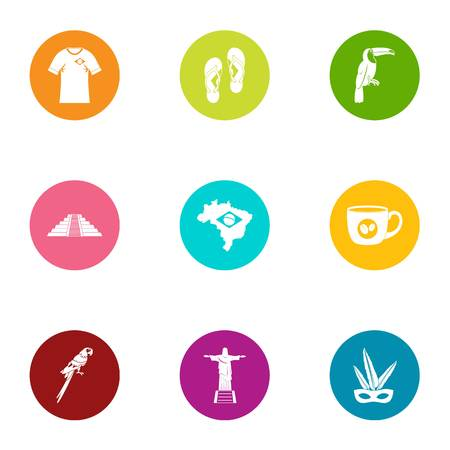 Spirit icons set. Flat set of 9 spirit vector icons for web isolated on white background