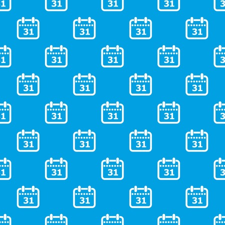Modern calendar pattern vector seamless blue repeat for any use Vettoriali