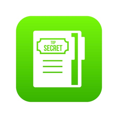Notepad icon digital green for any design isolated on white vector illustration