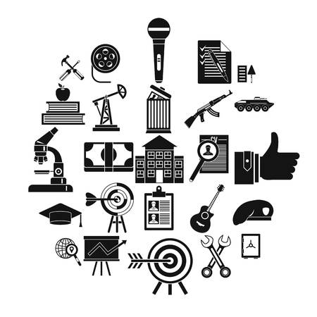 Successful career icons set. Simple set of 25 successful career vector icons for web isolated on white background Ilustracja