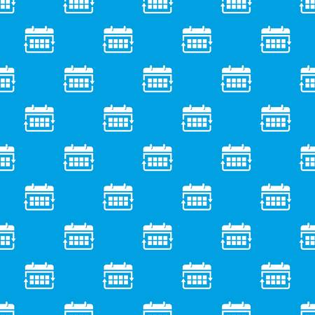 Office calendar pattern vector seamless blue repeat for any use