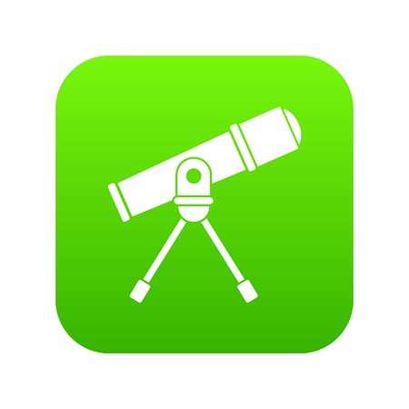Space telescope icon digital green for any design isolated on white vector illustration