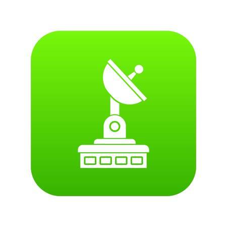 Satellite dish icon digital green for any design isolated on white vector illustration Vettoriali