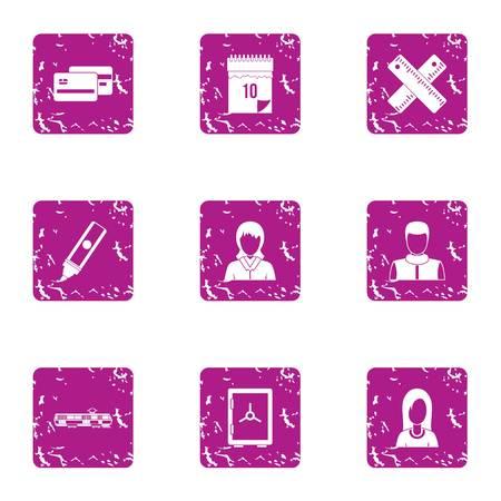 Cash economize icons set. Grunge set of 9 cash economize vector icons for web isolated on white background