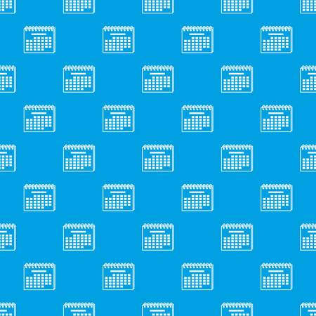 Year calendar pattern vector seamless blue repeat for any use