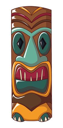 Polynesian idol icon. Cartoon of polynesian idol vector icon for web design isolated on white background