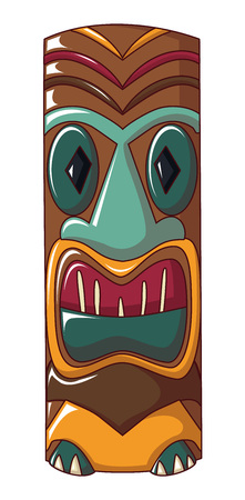 Polynesian idol icon. Cartoon of polynesian idol vector icon for web design isolated on white background Illustration