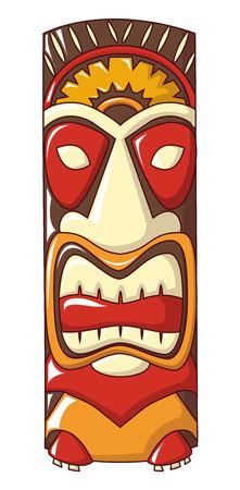 Island idol icon, cartoon style