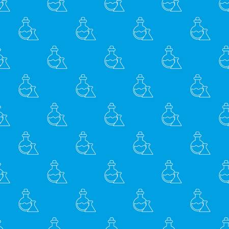 Flask pattern seamless blue