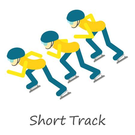 Short track icon, isometric style 写真素材