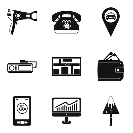 Work icons set, simple style