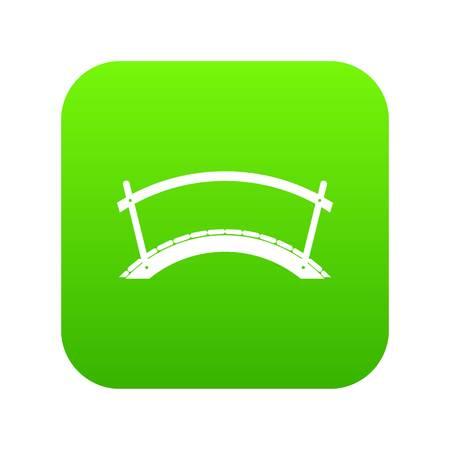Bridge icon digital green