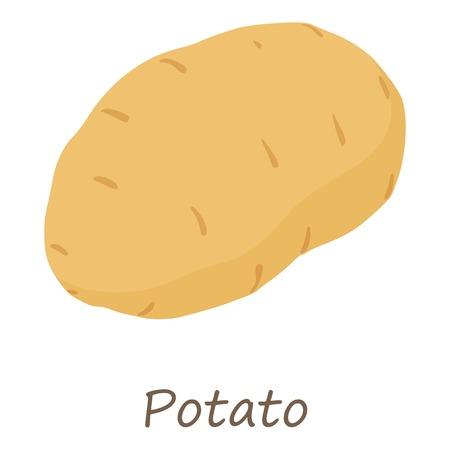 Potato icon, isometric style