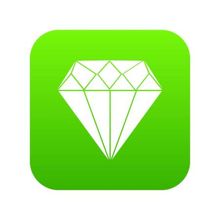 Diamond icon digital green for any design isolated on white vector illustration Ilustrace