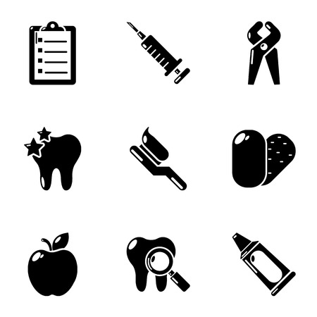 Needful medical icons set. Simple set of 9 needful medical vector icons for web isolated on white background