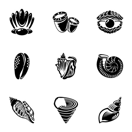 Barnacle icons set, simple style