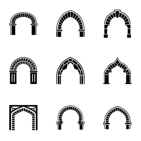 Aisle icons set. Simple set of 9 aisle vector icons for web isolated on white background