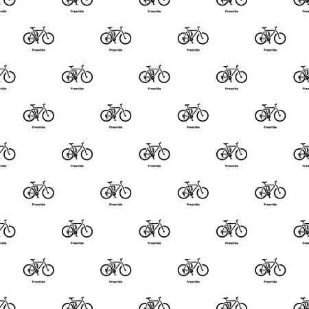 Freeride bike icon. Simple illustration of freeride bike vector icon for web