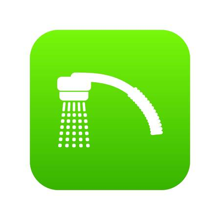 Running water icon green vector