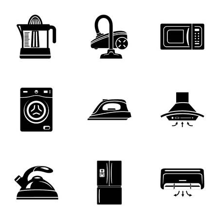 Device at home icons set. Simple set of 9 device at home vector icons for web isolated on white background