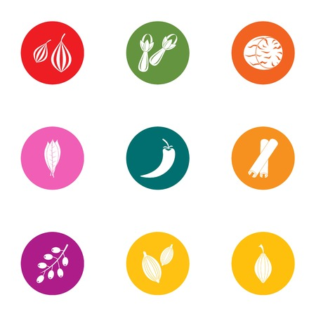 Arbor icons set. Flat set of 9 arbor vector icons for web isolated on white background