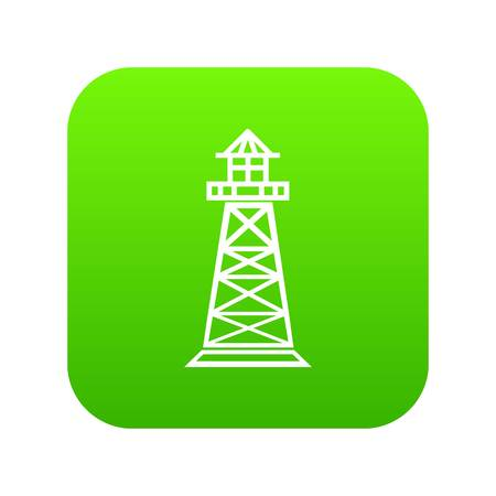 Lighthouse icon green vector 矢量图像