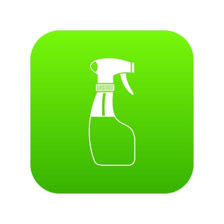 Spray icon digital green for any design isolated on white vector illustration