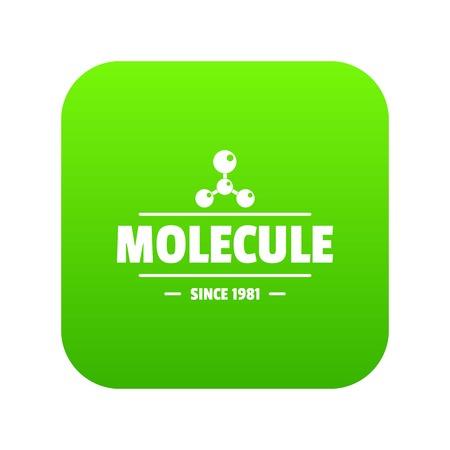 Molecule energy icon green vector