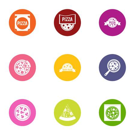 Tart icons set. Flat set of 9 tart vector icons for web isolated on white background Stock Vector - 108155637