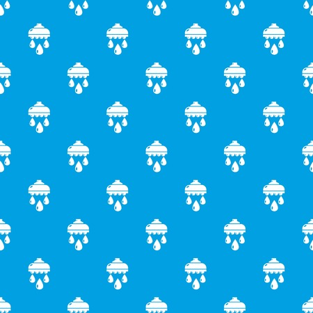 Shower head pattern vector seamless blue repeat for any use