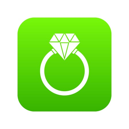 Ring LGBT icon digital green for any design isolated on white vector illustration Stock Illustratie
