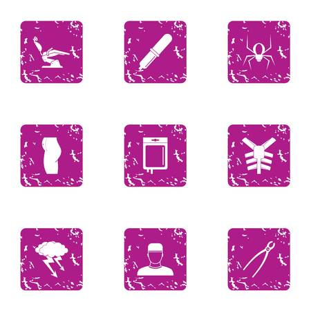 Serviceability icons set. Grunge set of 9 serviceability vector icons for web isolated on white background