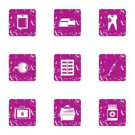 Carrying the animal icons set. Grunge set of 9 carrying the animal vector icons for web isolated on white background Illustration